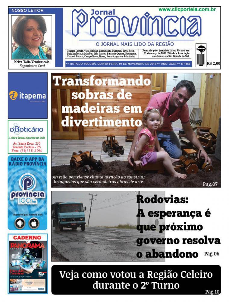 Edição 1168 - 01 de Novembro de 2018