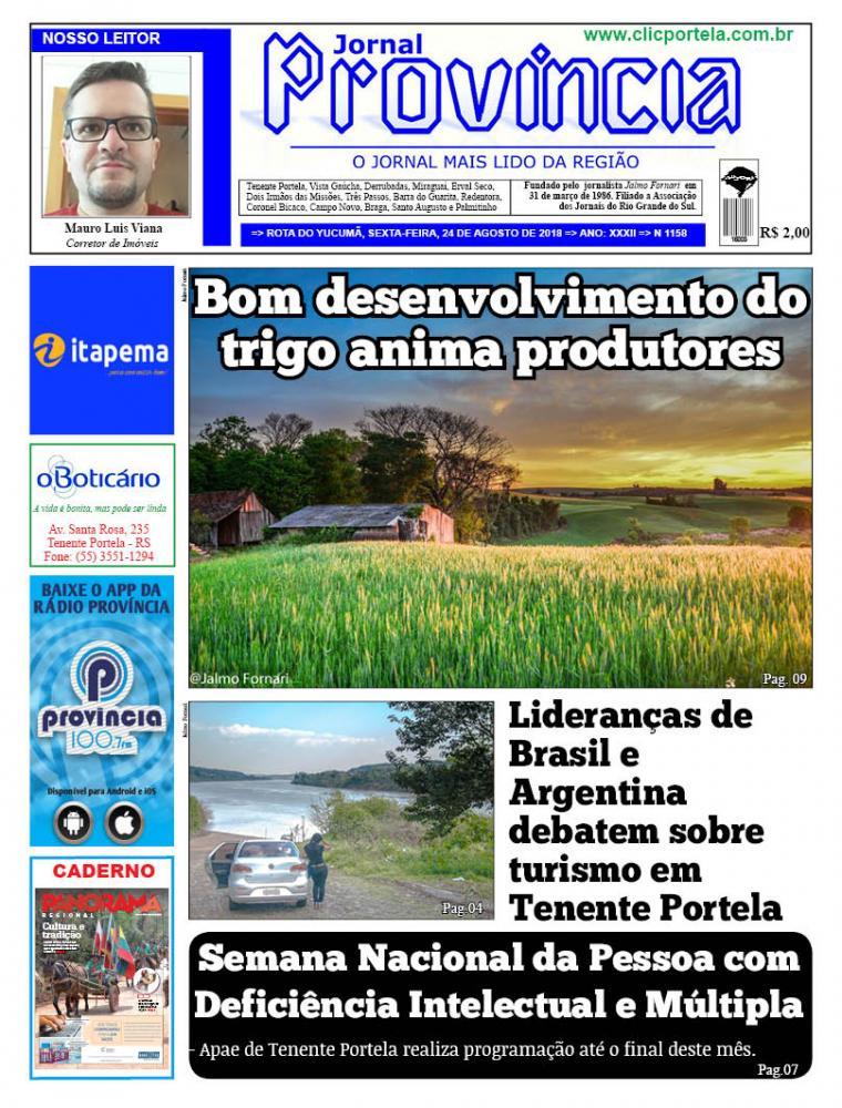 Edição 1158 - 24 de Agosto de 2018