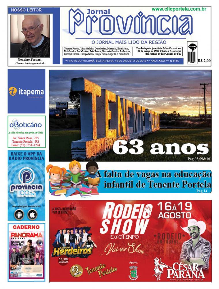 Edição 1156 - 10 de Agosto de 2018