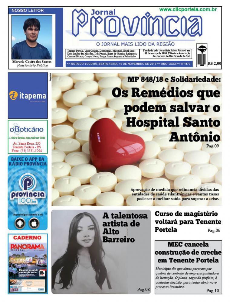 Edição 1170 - 16 de Novembro de 2018