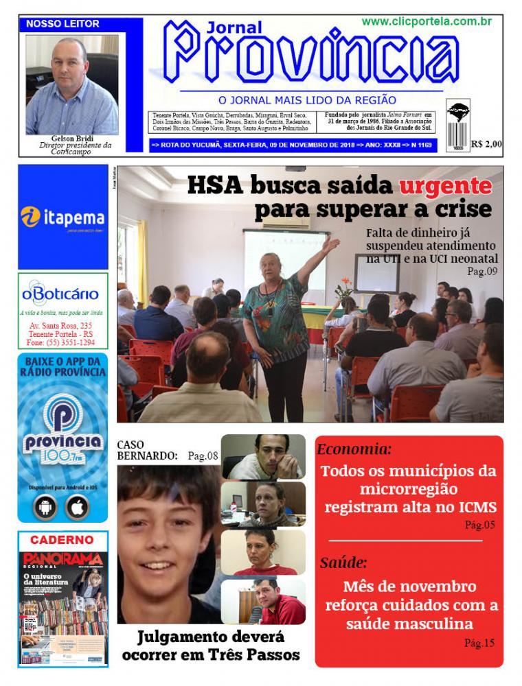Edição 1169 - 09 de Novembro de 2018